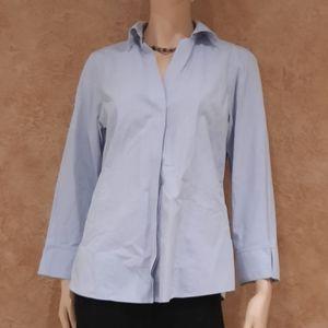 🍒 Foxcroft  NYC blue heritage Sleeved Tee Shirt